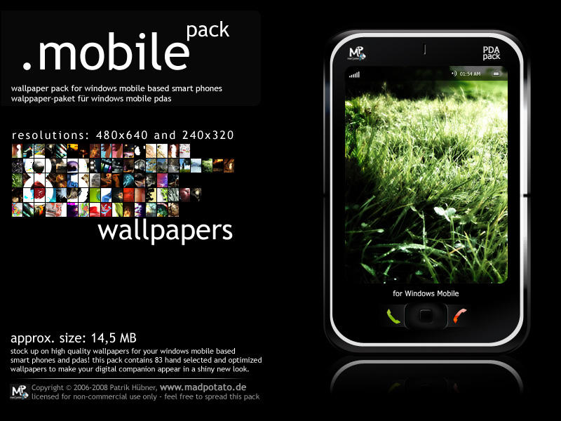 Windows Mobile Wallpaper Pack by MadPotato