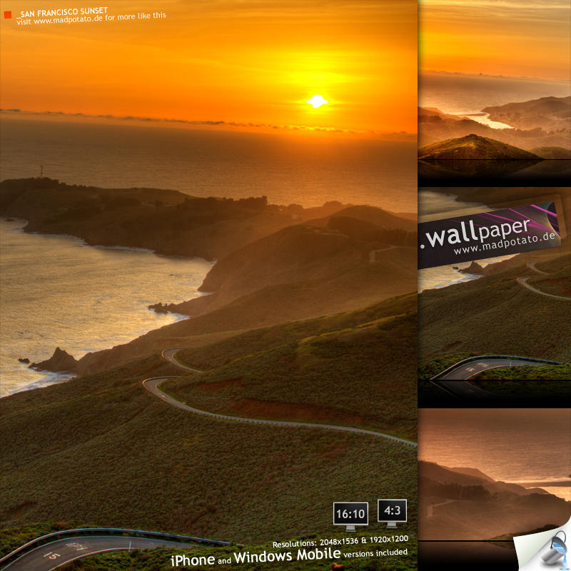 San Francisco Sunset -HDR-Pack by MadPotato