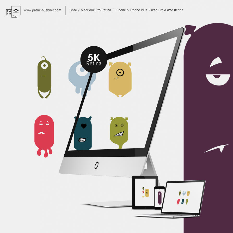5K retina Wallpaper-Pack - Generative Creatures by MadPotato