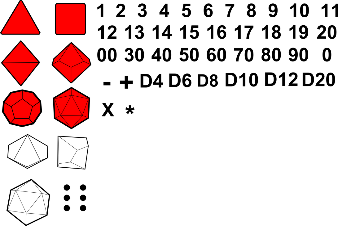 Polyhedral RPG Gaming Dice - Dec 2014 by jpatterson