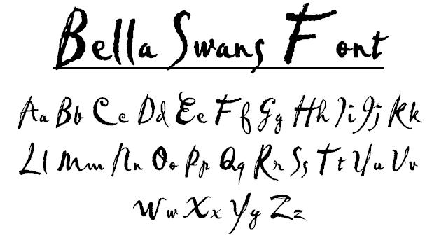 Bella Swan Font By RikuFanGirl