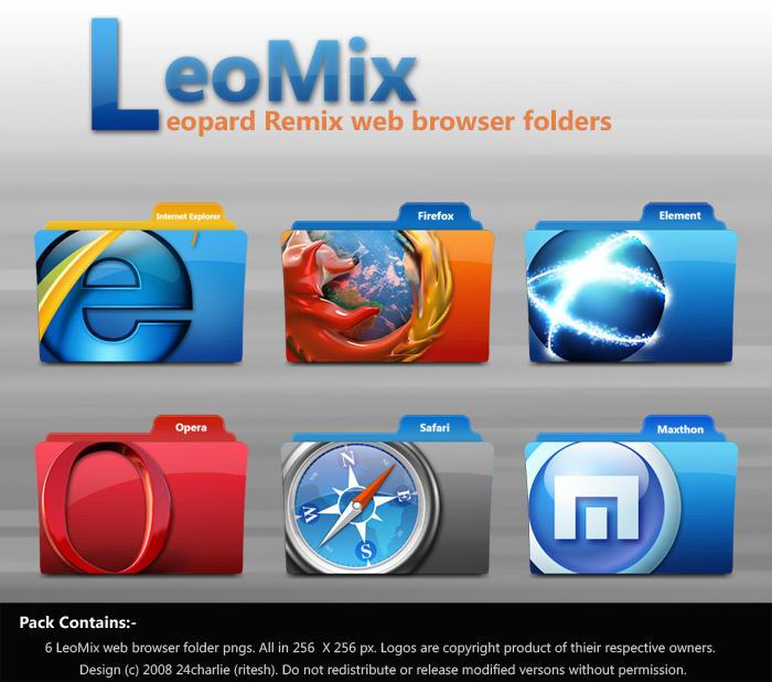 LeoMix web browser folders