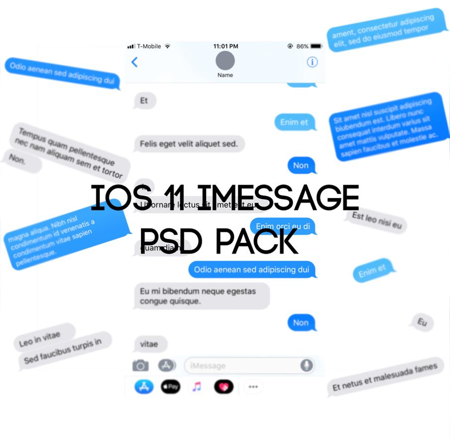 ios 11 imessage psd template pack by ckhoot on deviantart