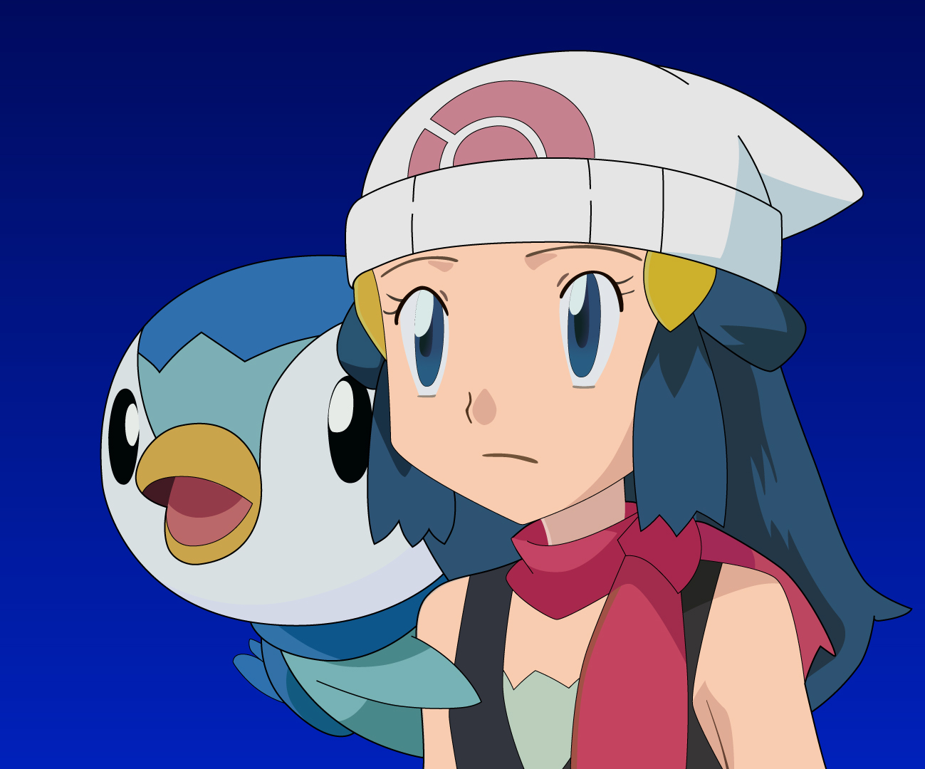 Dawn and Piplup Pokemon
