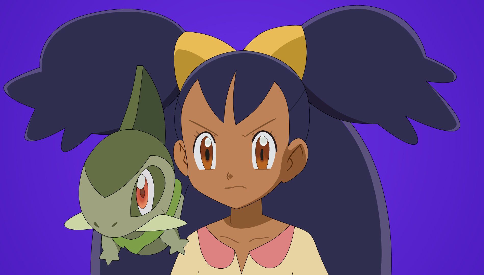 Iris and Axew Pokemon