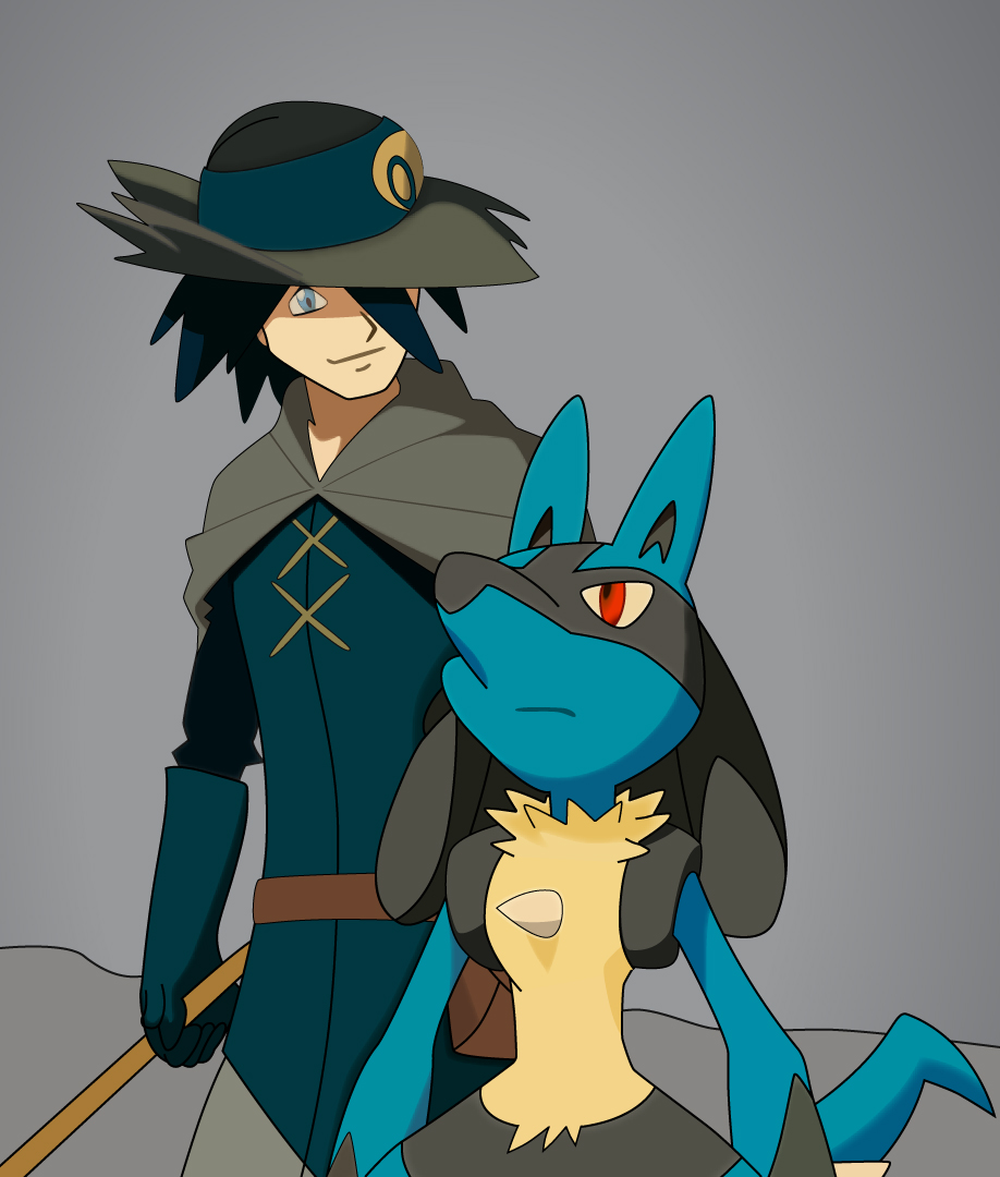 aaron_and_lucario_by_fezvrasta-d5yrqyk.j