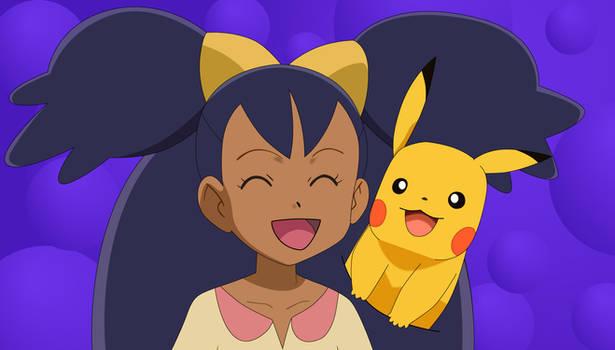 Iris and Pikachu