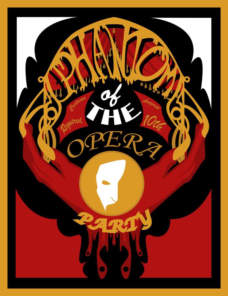 Phantom of the Opera Party Invite by phantomonex