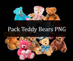 Pack Teddy Bears By Alexzblue Png