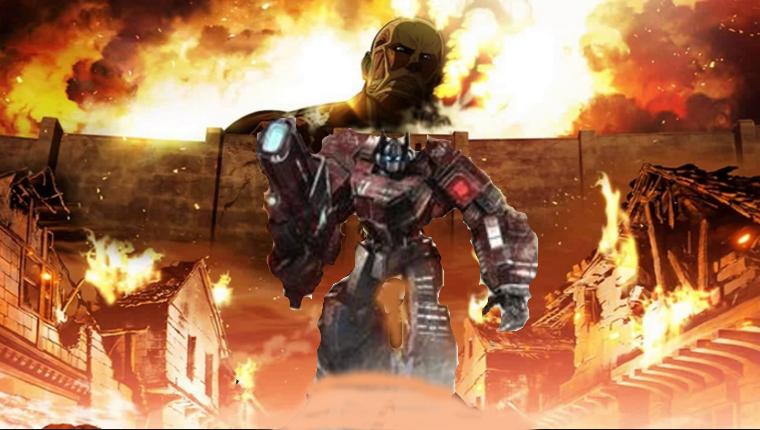 transformers, attack on prime anime edition by soundbreaker1235