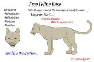 Free Feline Base by Juzoka-Vargulf-Eqqus