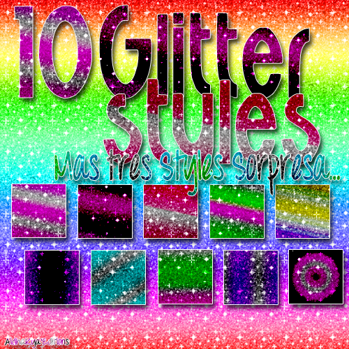 Glitter Styles by AishaKyaEditions