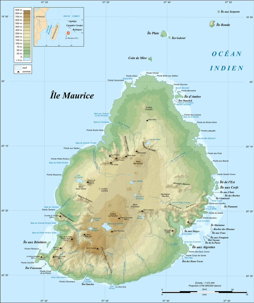 Mauritius Island Topographic Map Fr By Isladelossuenos0910 On Deviantart