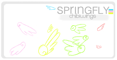 Chibi Wings -Brushes by SaltedPanda
