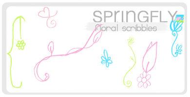 Floral Scribbles -Brushes