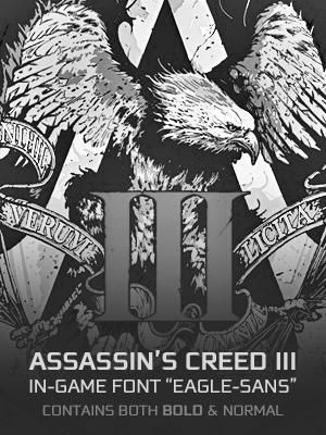 Assassin's Creed 3 In-Game Font - Eagle Sans by Rapsound