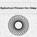 Spherical flower brush by Gimp 2.8