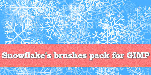 Snowflake Pack for Gimp