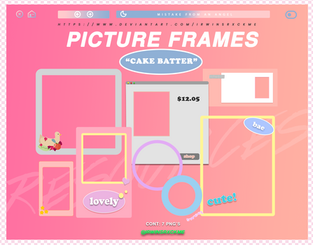 Picture Frames // Cake Batter
