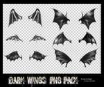 Dark wings png pack.