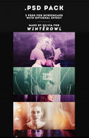 Psd pack, 3 various psd colorings | Winterowl. by taxitoheaven