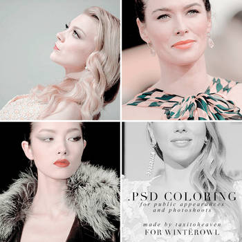Psd coloring for public appearances| Winterowl. by taxitoheaven