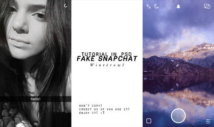 [PSD] fake snapchat tutorial | Winterowl by taxitoheaven
