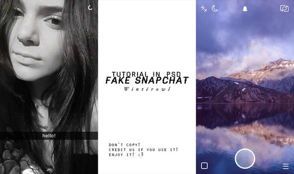 [PSD] fake snapchat tutorial   Winterowl