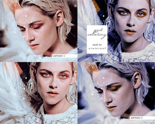 Psd coloring, 'Kristen Stewart'   Winterowl by taxitoheaven