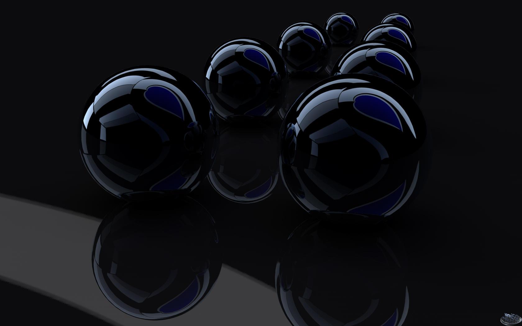 Dark balls Blue heart by vervi59