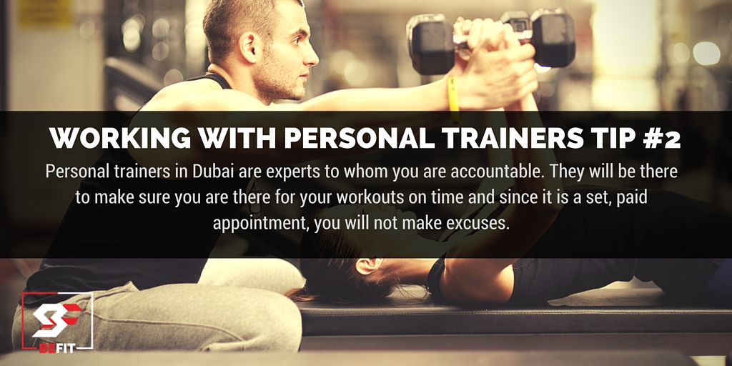 appropriate tip for personal trainer