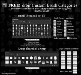 FREE! drbjr Custom Brush Categories - PS Brushes by drbjrart