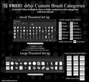 FREE! drbjr Custom Brush Categories - PS Brushes