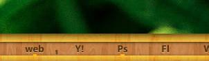 Mini wood text icon
