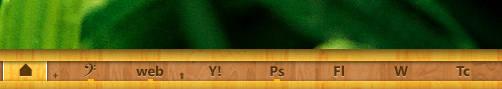 Mini wood text icon by dvkndn