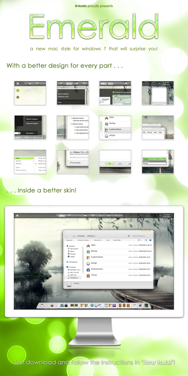 Windows 7 theme Emerald