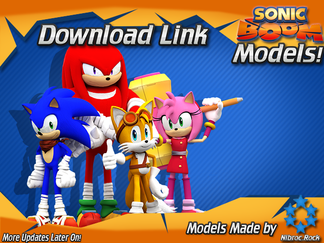 Group of Mmd Sonic Boom Models