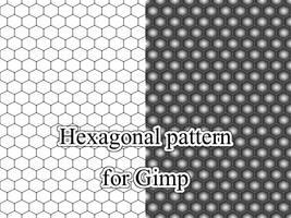 Hexagonal pattern for Gimp by Melomonster
