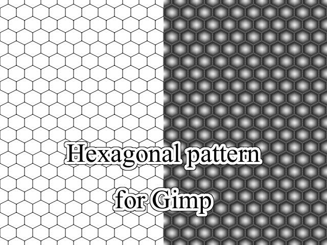 Hexagonal pattern for Gimp by Melomonster