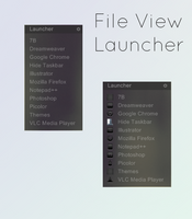 File View - Launcher for Rainmeter by Setuini