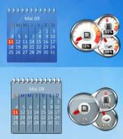 CPUmeters+calendar rainmeter by Joack