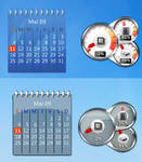CPUmeters+calendar rainmeter