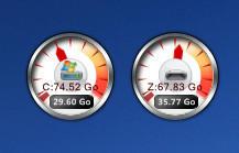 Drive meter round 4 rainmeter by Joack