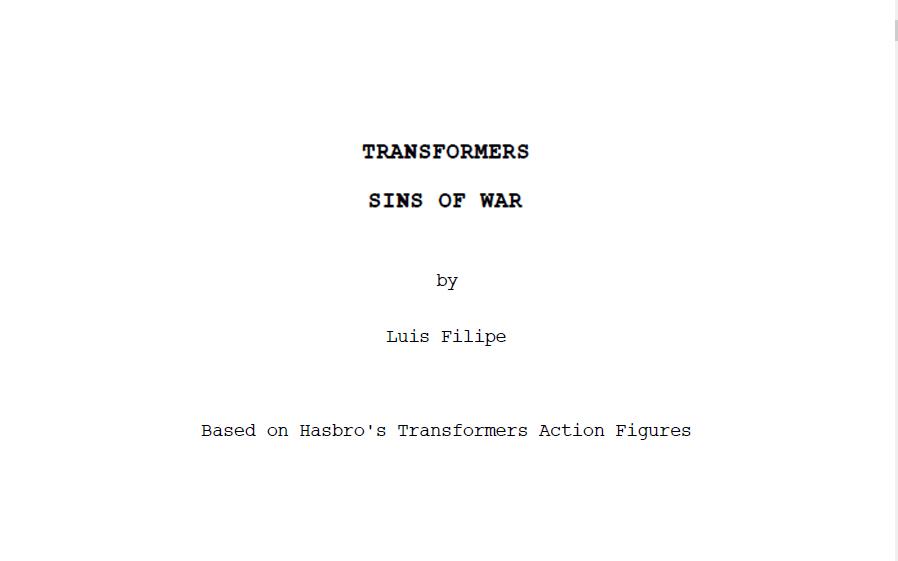 Transformers - Sins of War by AldoRaine13