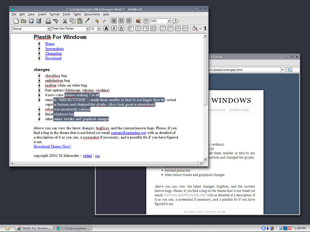 Plastik for Windows by contra