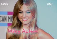 Miley Cyrus action by Graphic-Mania