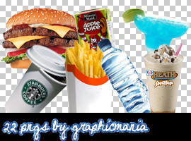 Food and Drinks pngs by Graphic-Mania