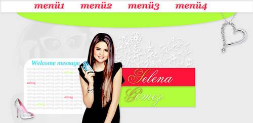 Selena Gomez psd header by Graphic-Mania