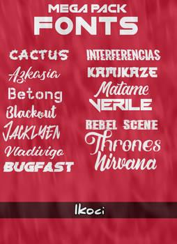 Mega Pack fonts