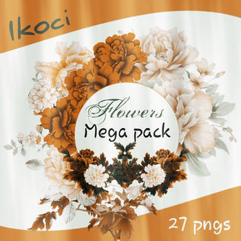 Mega pack flowers || 27 PNG's by iKoci
